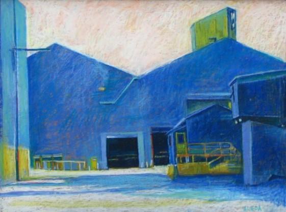 US Steel Blue by Aleda O'Connor
