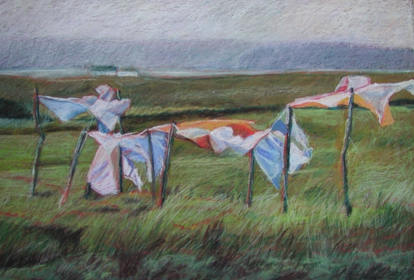 "Wash Day, Co. Kerry 24"" x 36"" SOLD"