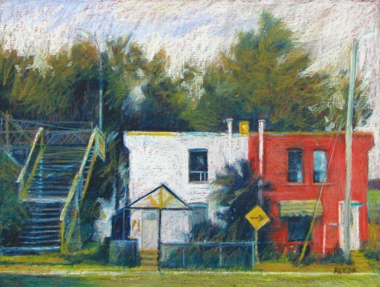 """Oil Pastel on Wood Panel 18"""" x 24"""""""