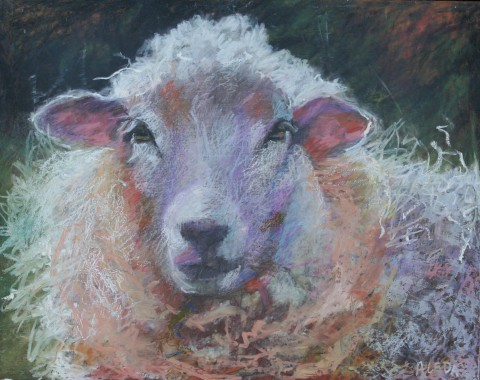 """Pink Ears 11"""" x 14"""" SOLD"""