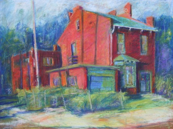 """Red House 18"""" x 24"""""""