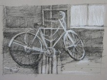 """Bicycle, Ste. Irene SOLD 3""""x 4"""""""