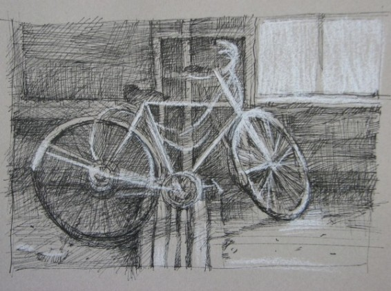 "Bicycle, Ste. Irene SOLD 3""x 4"""