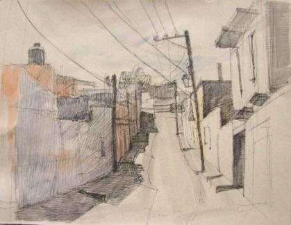 """De Aldama San Miguel Pen, Ink & Watercolour 11"""" x 14"""""""