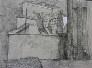 """Rooftop laundry 5"""" x 7"""""""