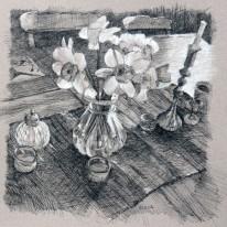 "Daffodils 10"" x 10"" SOLD"