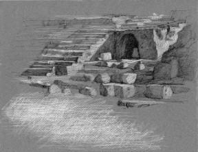 "Theatro Greco Syracuse, Sicily 9"" x 12"""