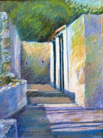 "Shadow Composition, Greece 18"" x 24"""