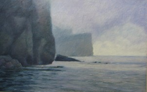 "SOLD Percé from Bonaventure 24"" x 36"""