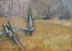 "Split Rail Fence, Dufferin County 20"" x 28"""