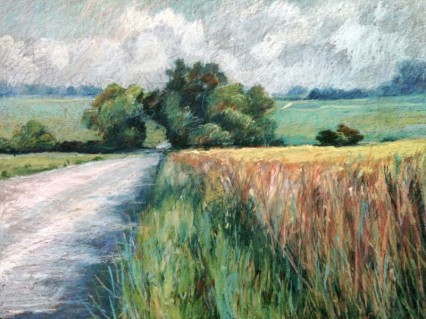 Wheat field and Willows 18 x 24 SOLD
