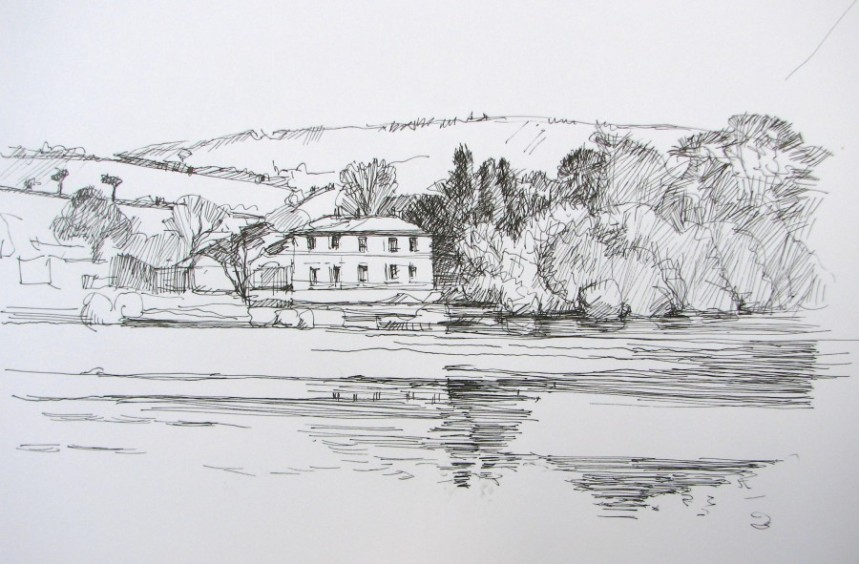 "Blackwater River Near Villierstown County Waterford, by Aleda O'Connor 8 1/2"" x 11"""