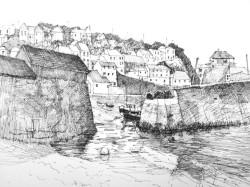 Low Tide, Mevagissey by Aleda O'Connor