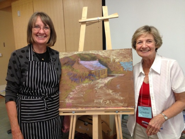 I'm with Karen Grimshaw, president of the MGA following my presentation and brief demonstration.
