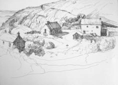 Porthgwarra Village, by Aleda O'Connor