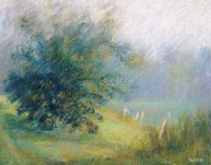 """Path and Apple Tree 18"""" x 24"""" SOLD"""