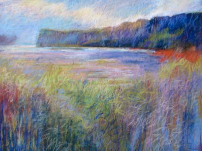 "Indigo Bluff 36"" x 48"" SOLD"