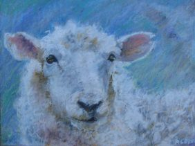 "Ewe Portrait 11"" x 14"" SOLD"