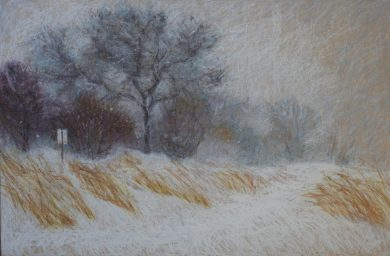 "Backroad Blizzard 24"" x 36"" SOLD"