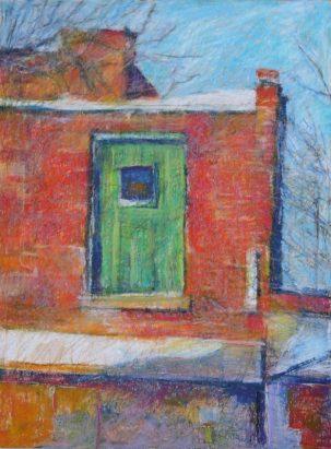 """Green Door, Cannon 18"""" x 24"""" SOLD"""