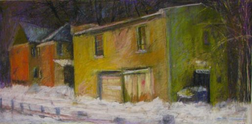 """Yellow House Winter 24"""" x 36"""" SOLD"""