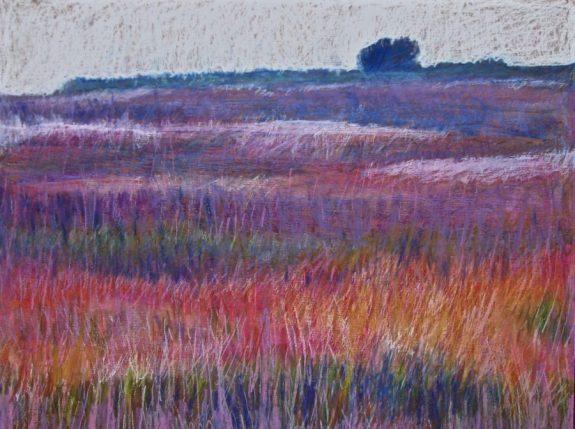 Purple field 18 x 24 SOLD