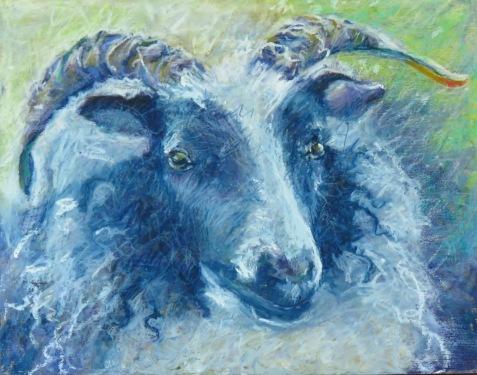 "Blue Sheep 11"" x 14"" SOLD"