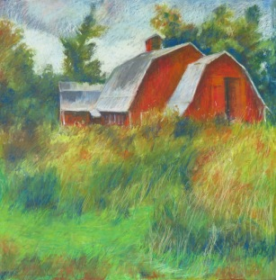 """Hipped Barn 24"""" x 24"""" SOLD"""