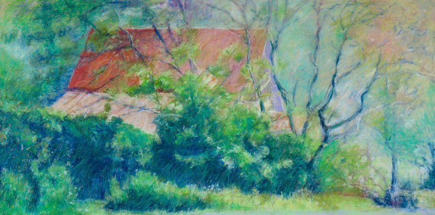 """House in the Woods 24"""" x 48"""" SOLD"""