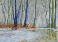 """March Melt 18"""" x 24"""" SOLD"""