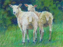 """Two Look Back 18"""" x 24"""" SOLD"""